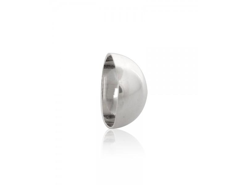 Silver 935 Half Ball, 12 mm  Half Balls