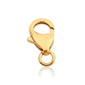 9K Red Gold Oval Trigger Clasp 13.1mm /w fixed closed ring