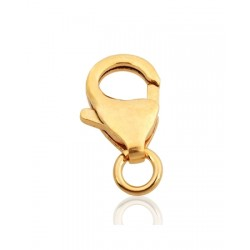 Gold Filled Trigger Clasp 12mm with the open jump ring