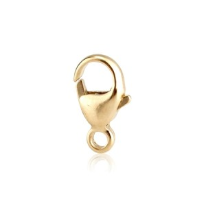 18K Yellow Gold Trigger Clasp 9.1mm w/ closed ring