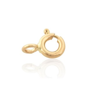 14K Yellow Gold Spring Ring / Bolt Ring 6mm with open ring
