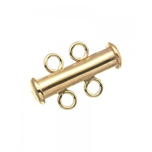 Gold Filled 5% 14K Gold Tube Clasp 2 Row