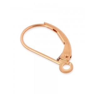 Rose Gold Filled Leverback Plain Earrings 16.5mm x 9.5mm