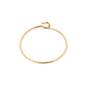 Gold Filled Beading Hoop Earring 30mm, 0.65mm thickness, sold per pc
