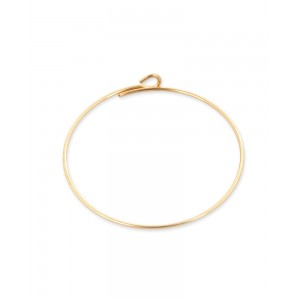 Gold Filled Beading Earrings 50mm, 0.65mm thickness, sold per pc
