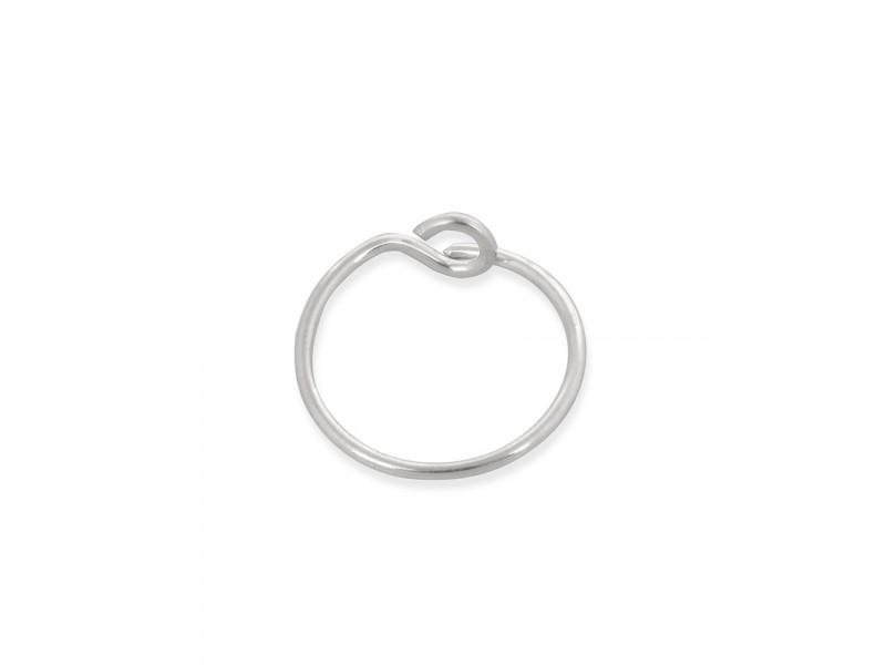 Sterling Silver 925 Hoop Earring 16mm