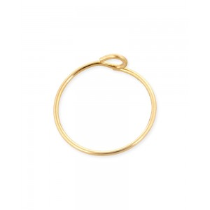 Gold Filled Beading Hoop Earring 25mm, 0.65mm thickness, sold per pc