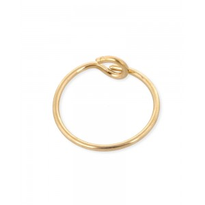 Gold Filled Beading Hoop Earring 16mm, 0.65mm thickness, sold per pc