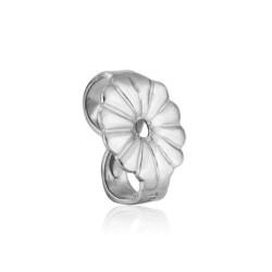 Sterling Silver 925 medium fancy Ear Clutch