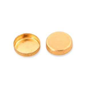 9K Yellow Gold Round Bezel Cup 6mm
