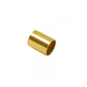 Gold Filled Yellow Crimp Cut Tube inside D 1.5mm outside 2mm, 2mm long