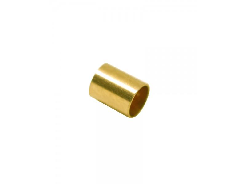 Gold Filled Yellow Cut Tube 5mm, external diameter 4mm, wall 0.3mm