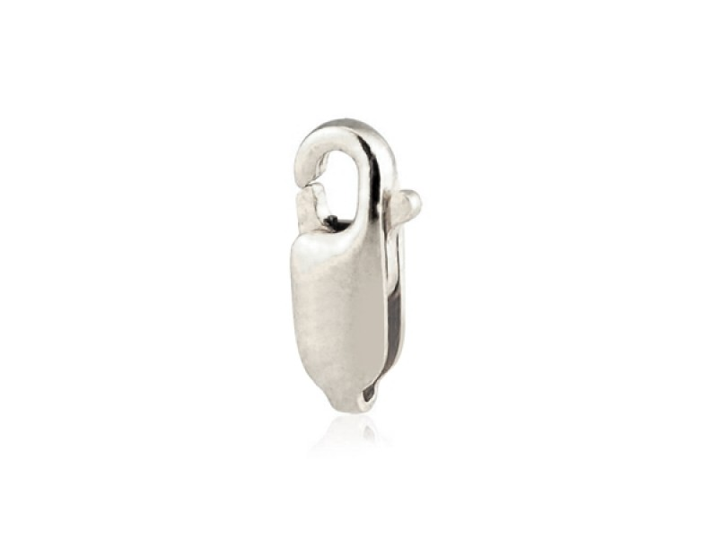 9K White Gold Lobster clasp, 11.7 mm, without ring