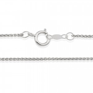 Ready made Sterling Silver 925 Spiga Chain 16''