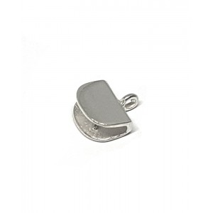 Sterling Silver 925 Flat End Cap 2mm x 8mm End Caps