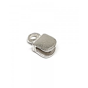 Sterling Silver 925 Flat End Cap 3.6mm x 3.8mm
