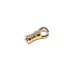 Brass Deep Gold Heavy Plated Gold Crimping End Cap, 1.3mm