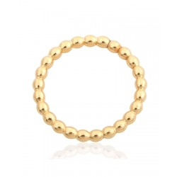 Gold Filled Yellow Pearl Wire Ring size I, internal D 15.3mm, wire 2.00mm