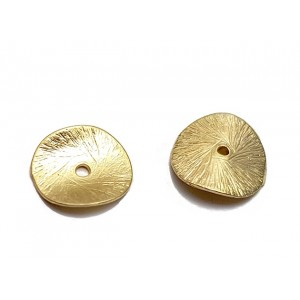Gold Filled Domed Textured Bead, 11mm, 0.8mm thickness