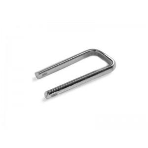 Silver 935 Cufflink finding Short Leg Silver Cufflinks