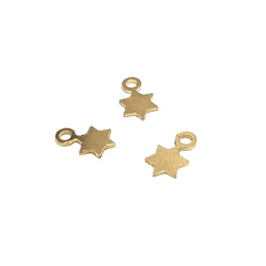 14K YELLOW GF STAR PENDANT W/RING 9 X 5.6 X 0.6MM