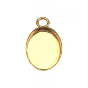 Gold Filled Oval Bezel Cup with 1 ring 6mm x 8mm