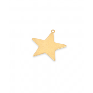 Gold Filled Flat Star Charm, 9mm