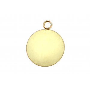 14K Gold Filled Round Smooth Disc with Ring, 10mm