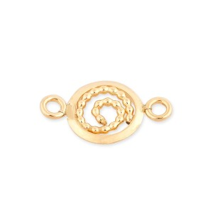 Gold Filled 8mm Disc Pearl Wire Snail +2 Rings