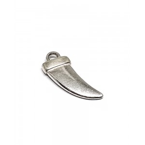 STERLING SILVER 925 TUSK PENDANT 19 X 7.7 X 3MM