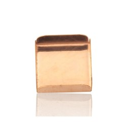 9K Red Gold Square Bezel Cup 10mm