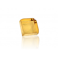 9K Yellow Gold Square Bezel Cup 8mm