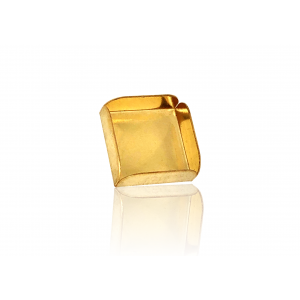 14K Yellow Gold Square Bezel Cup 10mm
