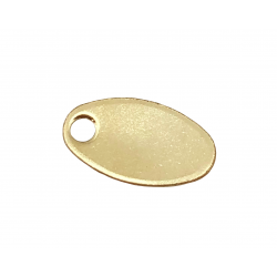 Gold Filled Oval Chain Tag 5.5mm x 10mm