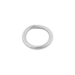 Sterling Silver 925 Soldered Round Jump Ring 10mm, wire 1mm