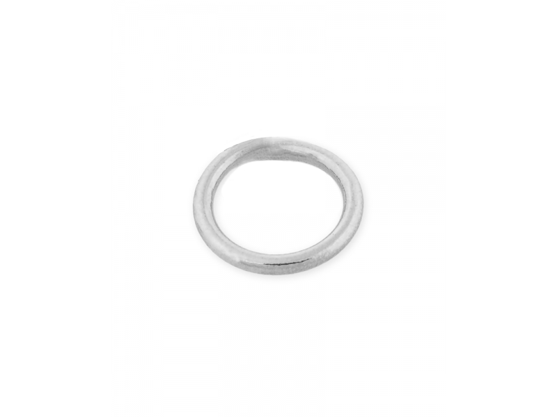 Sterling Silver 925 Soldered Round Jump Ring 4mm, wire 0.8mm