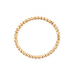Gold Filled Yellow Pearl Wire Ring size F, internal D 14.1mm, wire 1.50mm