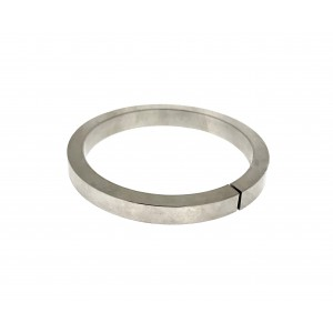 Sterling Silver 925 SEMI MANUFACTURED HOLLOW BANGLE (SPIRAL TUBING), RECTANGULAR 8x6mm, COIL I/D 63mm