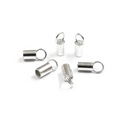Sterling Silver 925 Plain End Cap I/D 2.1mm length 5.0mm
