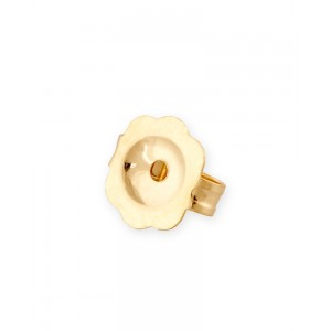 9K Yellow Gold Earring Clutch, small, hole 0.75mm