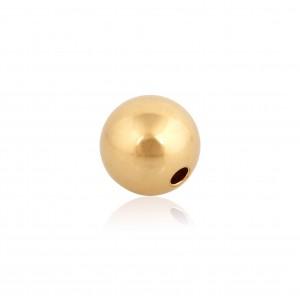 9K Yellow Gold 2 hole Round Bead 7mm