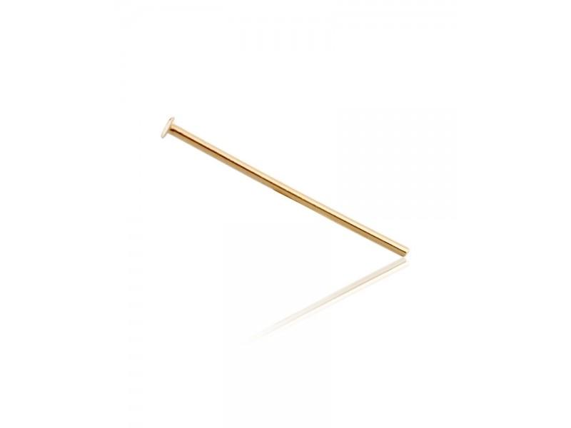 "9K YELLOW GOLD HEAD PIN 0.5MM X 1.5"""