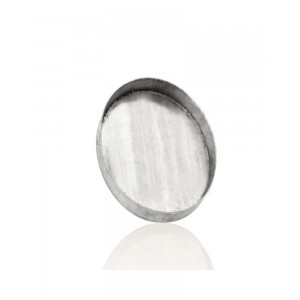 Sterling Silver 925 Oval Bezel Cup 15 x 20mm