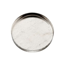 Sterling Silver 925 Round Bezel Cup 22mm