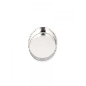 Sterling Silver 925 Oval Bezel Cup 10 x 12mm