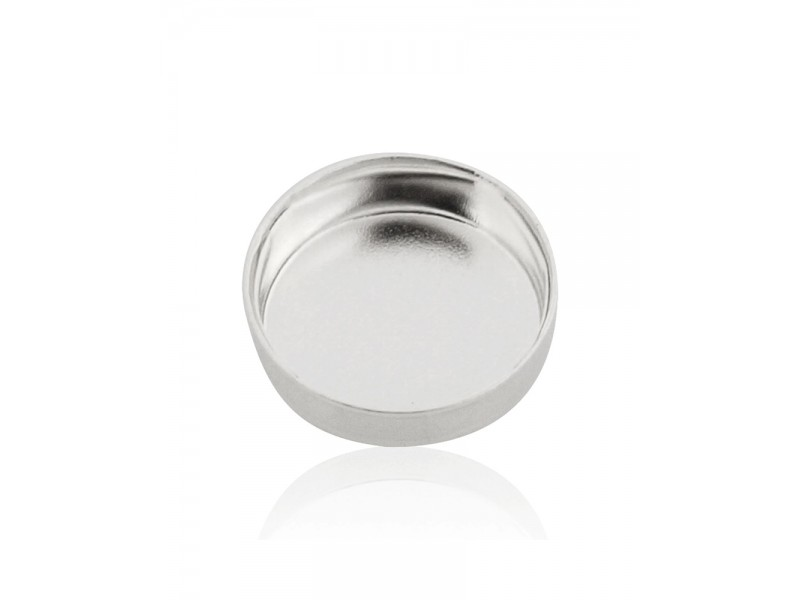 Sterling Silver 925 Round Bezel Cup 7mm Silver Round Bezel Cups