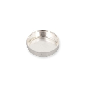 Sterling Silver 925 Round Bezel Cup 8mm