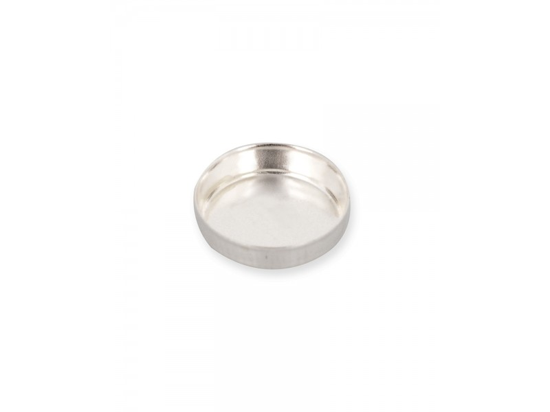 Sterling Silver 925 Round Bezel Cup 8mm Silver Round Bezel Cups