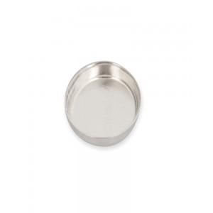 Sterling Silver 925 Oval Bezel Cup 6 x 8mm