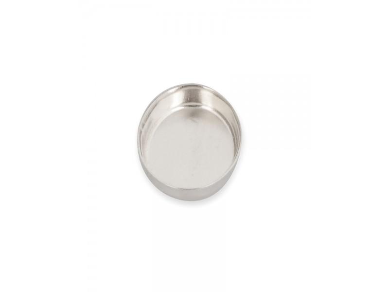Sterling Silver 925 Oval Bezel Cup 6 x 8mm Silver Oval Bezel Cups